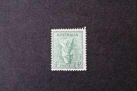 ESTAMPILLA AUSTRALIA, 1938, FAUNA - KOALA, YVERT AU 114B, USADA