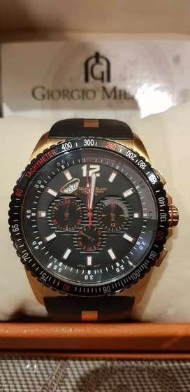 Reloj Giorgio Milano Original de Colección, Edición Limitada, Deportivo, Japón, Taquimetro Chronograph, Sumergible 10ATM