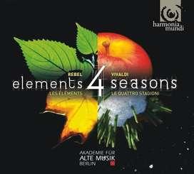 CD- Vivaldi. The Four Seasons (Le quattro stagioni) With Jean-Féry REBEL: Les Eléments