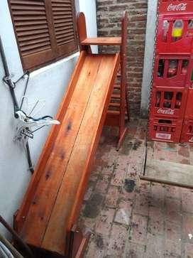 Tobogan plegable madera maciza barnizado