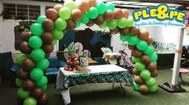 Animadores, recreadores, decoración, fiestas infantiles, baby shower, payasos, personajes