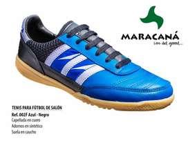 Zapatillas Micro fútbol en cuero MARACANA 100% original y zuela goma.