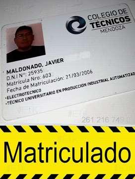 INSTALACIONES ELÉCTRICAS - MATRICULADO. Electricista