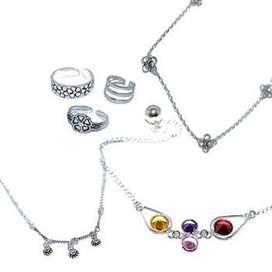 Pulseritas,cadenas , dijes , anillos , puedras originales y ojos turcos todo en plata 925