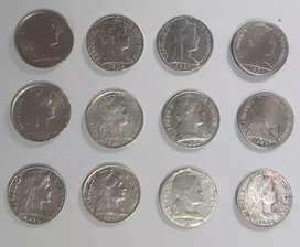 Vendo lote de 12 monedas antiguas de 1 centavo de Colombia de varios años
