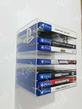 Soporte Base Repisa para juegos Ps4, xbox, Nintendo, organizador de pared