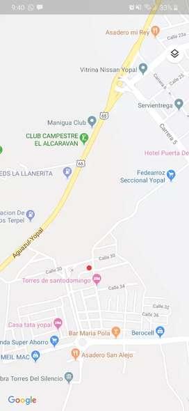 Lote barrio metropoli entrada a Yopal calle 30 y lote llano vargas