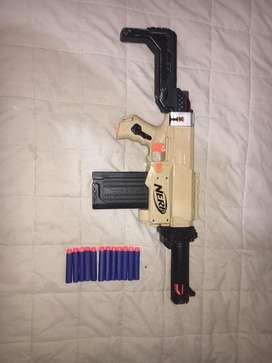 Pistola nerf retaliator pintado y modificado buen estado