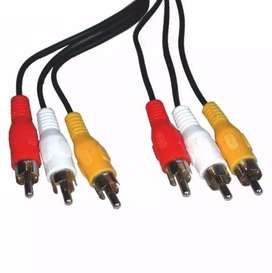 Cable Rca Audio Video Compuesto Rgb 1,5m La Plata