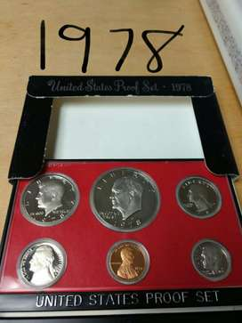 Full Set de Monedas 1978 Proof