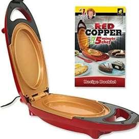 Sarten Electrico Red Copper 5 Minutes Chef Rápido Fácil