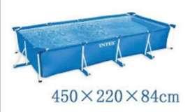 Piscina intex 450x220x86cm rectangular armables de tubo de tubo nuevas