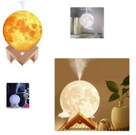 Humidificador difusor de olores esencias aromas ambientador aromaterapia tipo forma luna llena 3d humificador