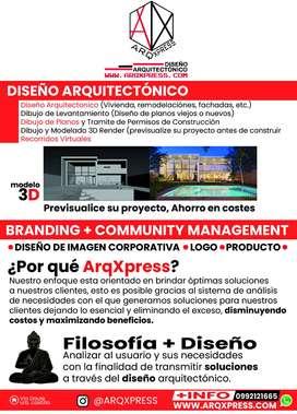 Arquitectura Planos arquitectónicos,3d, Render, diseño remodelaciones y reformas
