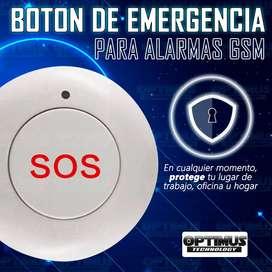 Seguridad - Boton SOS emergencia inalámbrico para alarmas GSM de frecuencia 433 MHz Botón de pánico