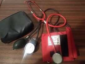 Tensiómetro y estetoscopio