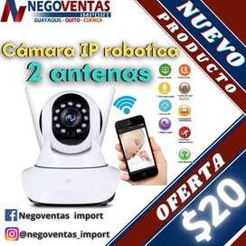 CAMARA DE SEGURIDAD  IP ROBOTICA 2 ANTENAS