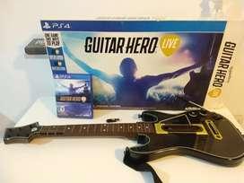 Guitarra ps4 guitar hero con su caja casi nuevo.