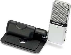 Micrófono Condensador Usb Portatil Samson Go Mic