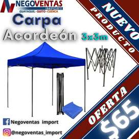 CARPA ACORDEON 3X3 REFORZADO