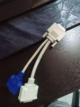 Cable Divisor DVI-I Macho a DVI-D y VGA Hembra