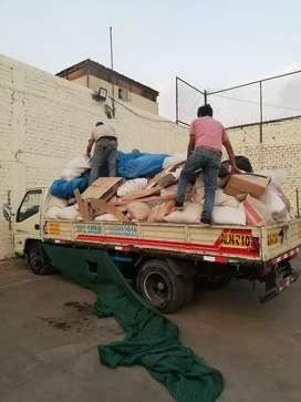 Eliminación de Desmonte. Transporte de carga. Traslado en general