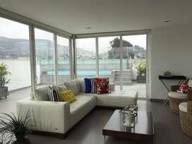 Venta de Moderno Duplex 4 Dorm.  Piscina  Bbq  Family Room Monterrico