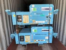 Generador genset undermount contenedor refrigerado chasis thermoking transporte frió congelado reefer perecible alimento