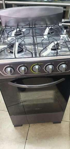 Estufa de gas de cuatro puestos y horno