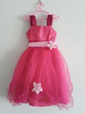 Vestido Fucsia Talla 6
