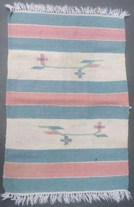 Tapete Ingles colores pastel azul, blanco y rosado