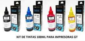 Kit 4 Tinta Generic Hh Gt53 Gt51 Gt52 Hp 410/315/415/519/515