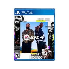 VIDEOJUEGO UFC4 PS4 NUEVO Y SELLADO