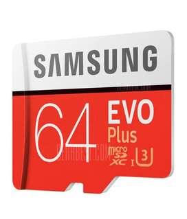Memoria Microsd ORIGINALES 64gb Y 32gb Clase 10