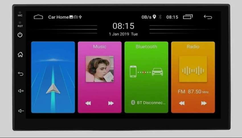 "RADIO KBT USB BT WIFI GPS ANDROID MIRROR LINK PANTALLA 7"" KAR-7UNI Nuevo Garantía  Scp1"