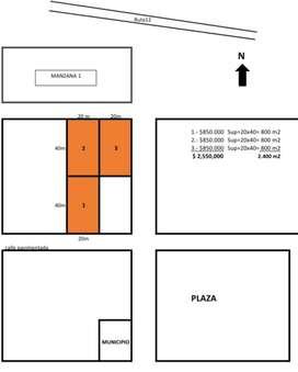 Vendo Tres Terrenos juntos en esquina en Villa Olivari, Ituzaingo