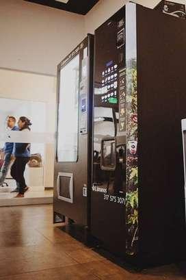 Máquinas dispensadoras de alimentos en el eje cafetero