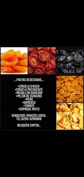 Frutas desecadas de primera calidad