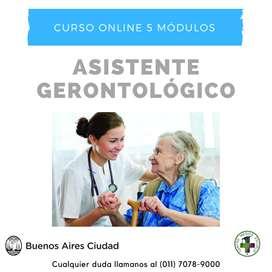 Curso Online de Asistente Gerontológico en Centro Medico Escuela