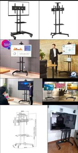 Soporte tv pedestal de piso rueda chinas