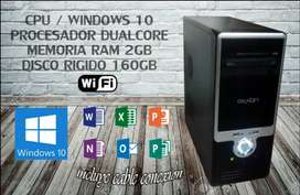 CPU Intel Dual Core WiFi 2GB RAM 160GB HDD Windows 10