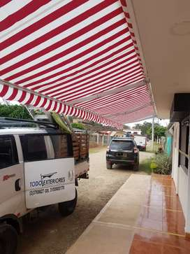 Parasol enrollable toldo banetas sombralinas  linas cubiertas