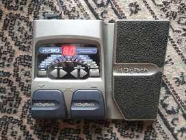 Pedalera Multiefectos Digitech RP80 (guitarra).