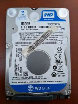 Disco Duro 500GB Western Digital laptop