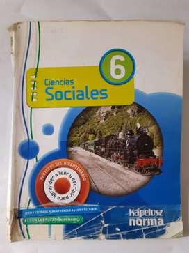 Ciencias Sociales 6 Kapeluzs Norma