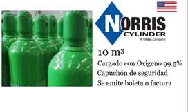 Balón de Oxígeno Marca Norris Cylinder 10m3 (cargado)