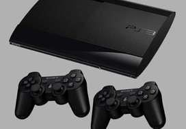 PlayStation 3 buen estado + 2 controles + 4 juegos