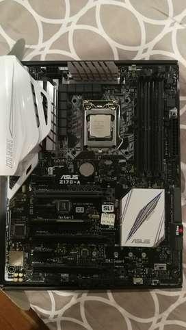 Procesador Intel core i7 7700 + Placa madre Asus Z170-A Excelente estado.