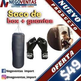 SACO DE BOX MAS GUANTES
