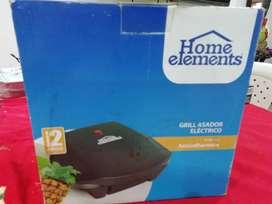 GRILL ASADOR ELECTRICO marca Home Elements. NUEVO